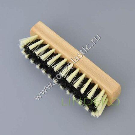 фото: Щетка для одежды деревянная искуств ворс 14*4*4см [MPG3336]