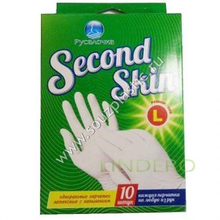 фото: Перчатки SECOND SKIN больш. 10шт в кор. РУСАЛОЧКА [436893]