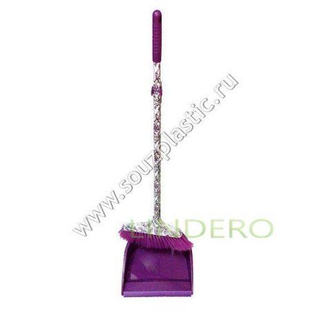 фото: Набор для уборки Ленивка: щетка и совок с длинными ручками, дизайн Восточные узоры [MFK05060]