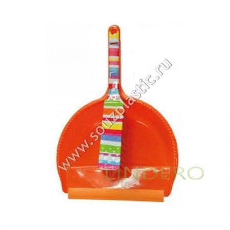 фото: Набор: щетка-сметка с совком, дизайн Оранжевая фантазия [MFK05005]