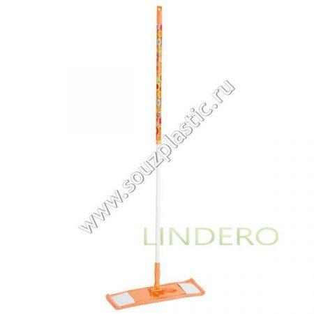 фото: Швабра плоская с насадкой из микрофибры, дизайн Оранжевая фантазия [MFK05017]