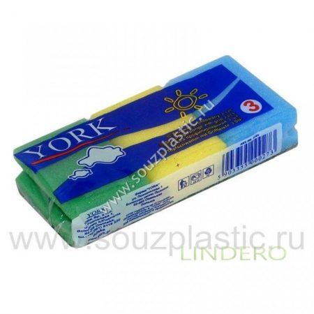 фото: Губка для посуды профилированная 'York' 3шт [031010]