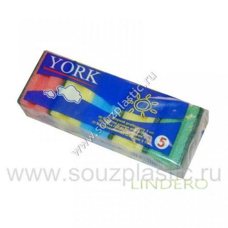 фото: Губка для посуды профилированная 'York' 5 шт [031020]