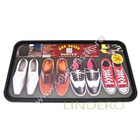 фото: Лоток для обуви 63,5*35,4*1,3см черный [22352]