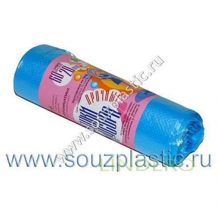 фото: Мешок для мусора 'КЛЕВЕР' прочный 60л (20шт.) (рулон) 10мкр [670959/К 6020РГ]