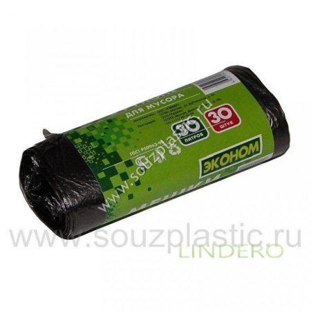 фото: Мешок для мусора 'Эконом' 30л (30шт.) (рулон) 6мкн [671192/3030РЭ]