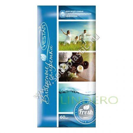 фото: Салфетки влажные Вестар Для всей семьи с антибактериальным эффектом (60 шт) [D3]